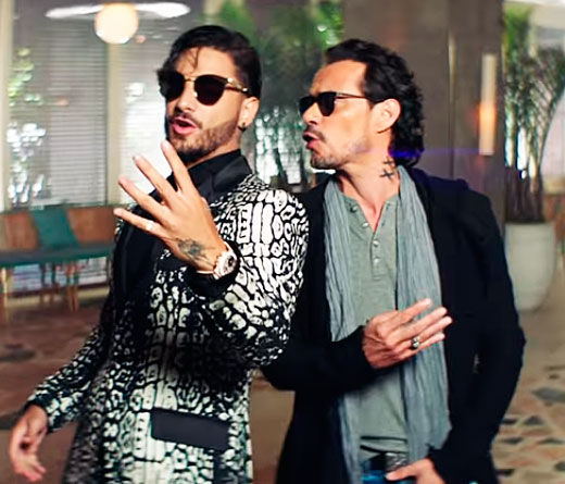 Maluma - Maluma y Marc Anthony en el video Felices los 4
