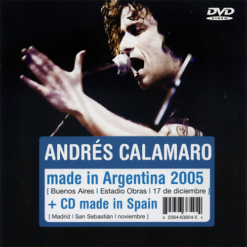 Tapa del CD MADE IN ARGENTINA DVD MADE IN ARGENTINA - Andr�s Calamaro