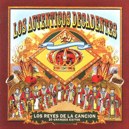 Tapa del CD LOS REYES DE LA CANCION - Los Aut�nticos Decadentes