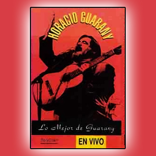 Tapa del CD LO MEJOR DE GUARANY EN VIVO - Horacio Guarany