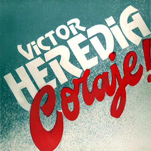 Tapa del CD CORAJE - Victor Heredia