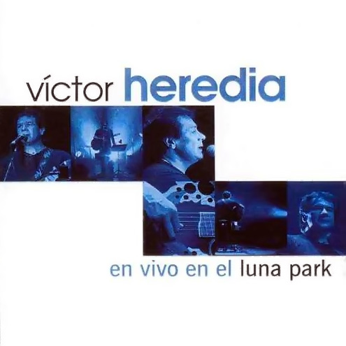 Tapa del CD EN VIVO LUNA PARK - DVD - Victor Heredia