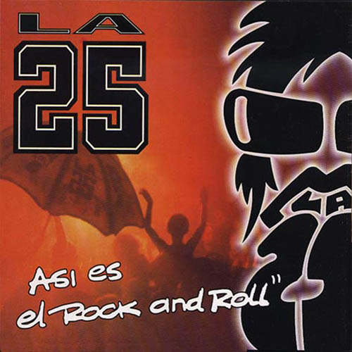 Tapa del CD AS�; ES EL ROCK AND ROLL - La 25