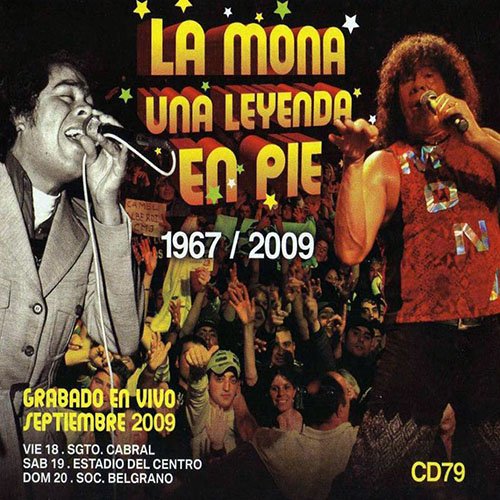 Tapa del CD UNA LEYENDA EN PIE - CD I (CD+DVD) - La Mona Jim�nez