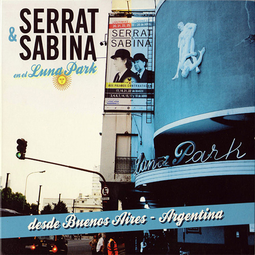 Tapa del CD SERRAT&SABINA - EN EL LUNA PARK (CD)