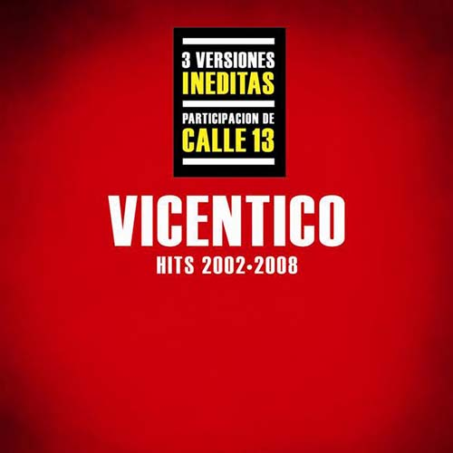 Tapa del CD HITS 2002 - 2008 - Vicentico