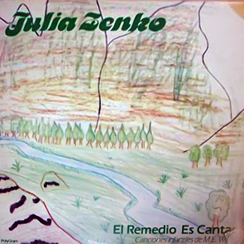 Tapa del CD EL REMEDIO ES CANTAR - Julia Zenko